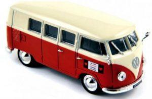 norev43 Volkswagen T1 Kombi 1955 Wit Rood